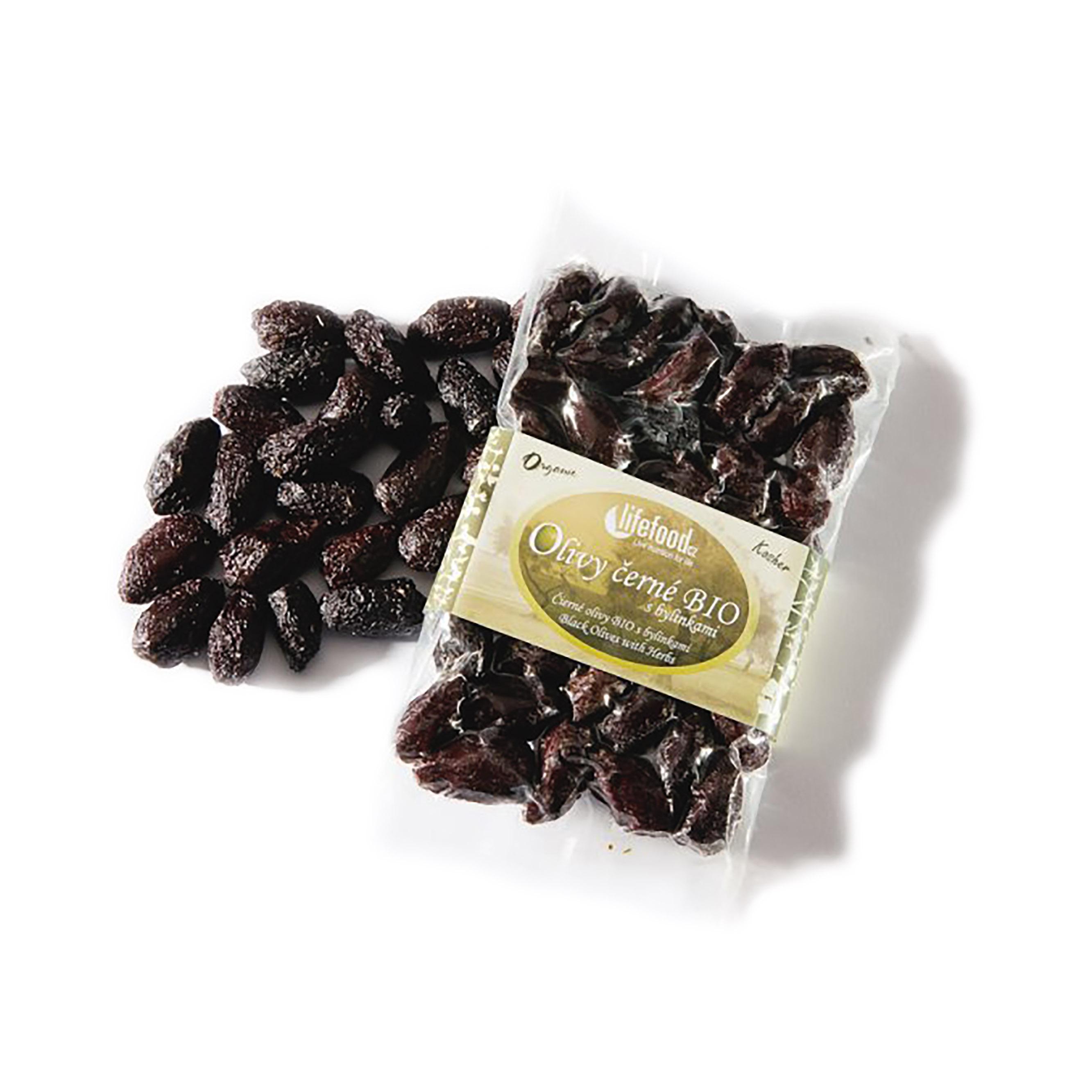 Olivy černé sušené z peru bio 150g lifefood