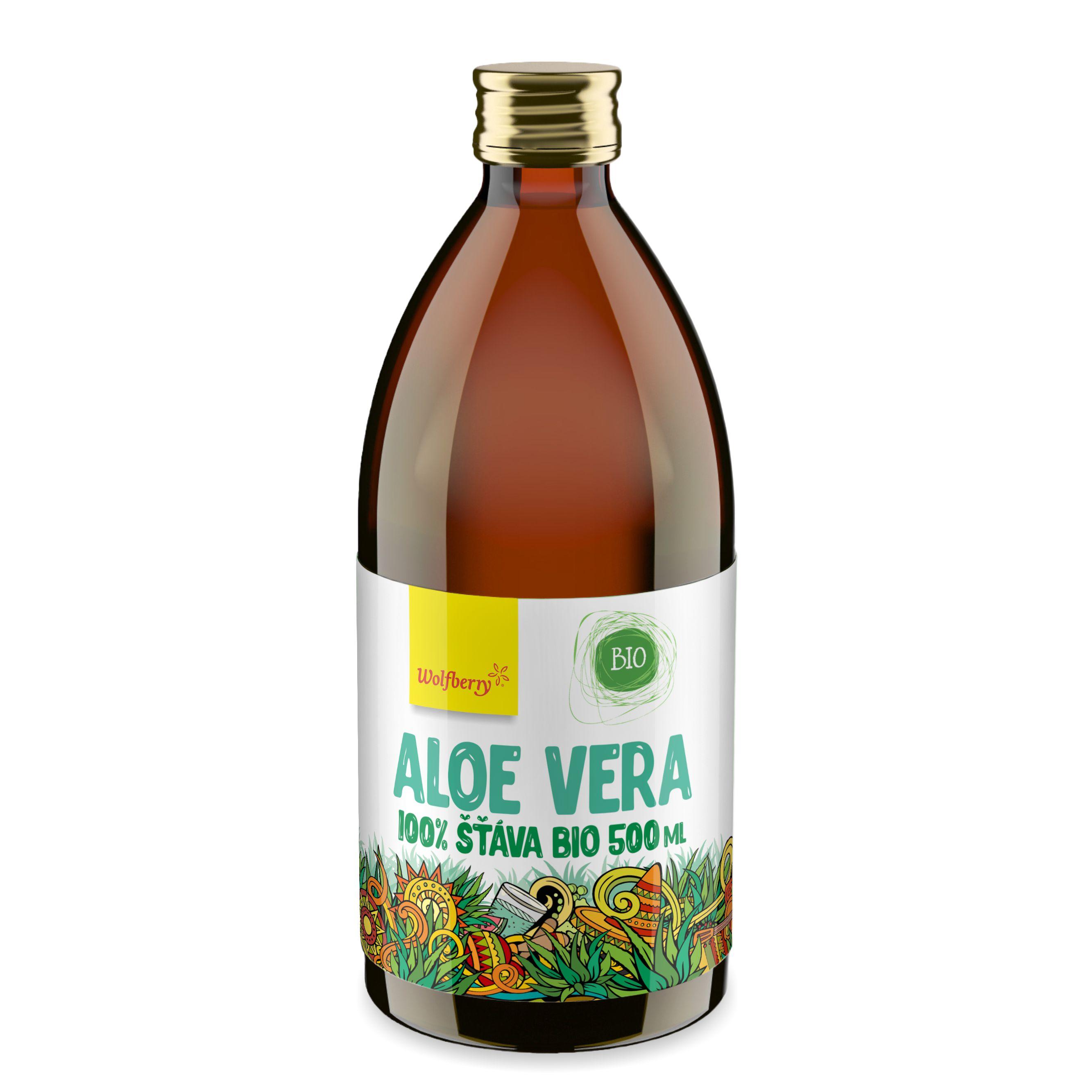 Aloe vera šťáva bio 500ml wolfberry