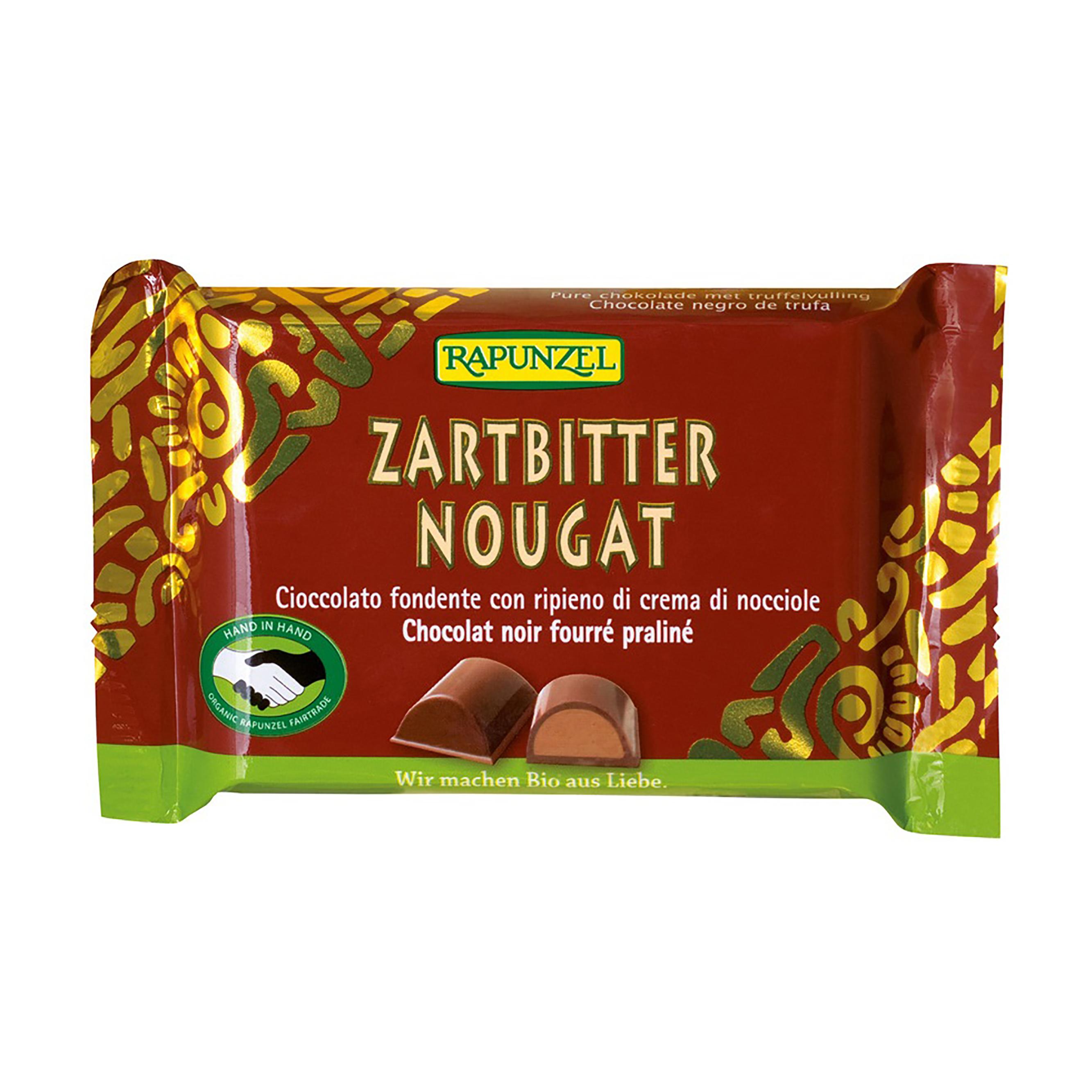 čokoláda hořká s oříškovou náplní bio 100g rapunzel
