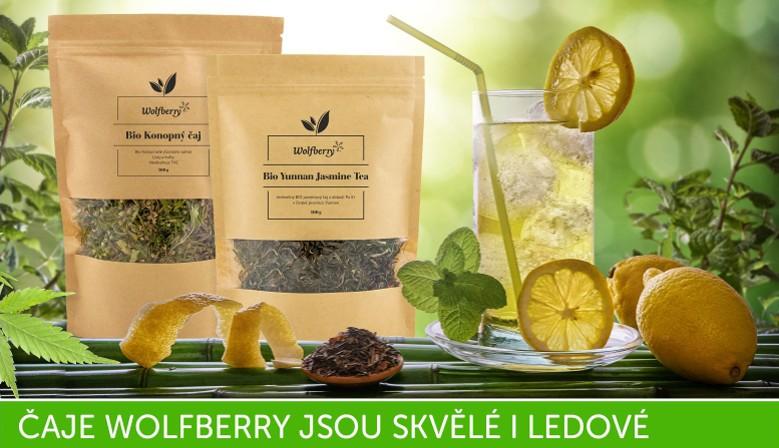 BIO čaje Wolfberry jsou výborné i k přípravě ledových nápojů
