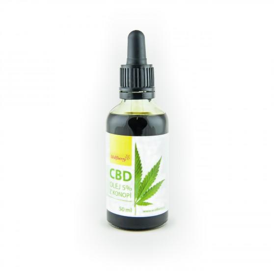 CBD Konopný olej 50 ml Wolfberry
