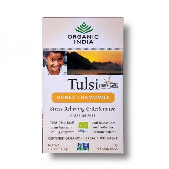Tulsi med a heřmánek BIO 18sáčků Organic India