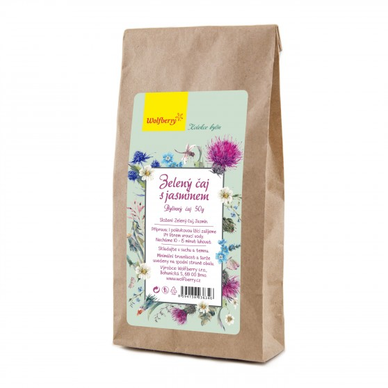 Zelený čaj s jasmínem 50g Wolfberry
