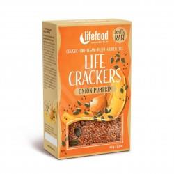 Lněné krekry s dýňovým semínkem a cibulkou BIO RAW 90 g Lifefood