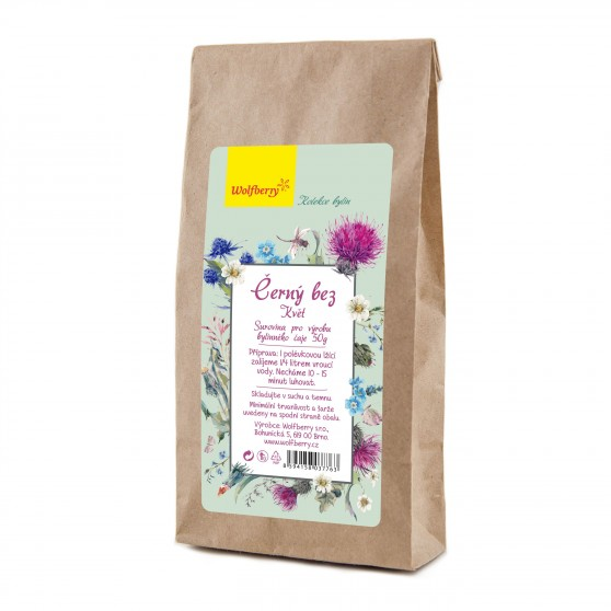 Černý bez bylinný čaj 50g Wolfberry