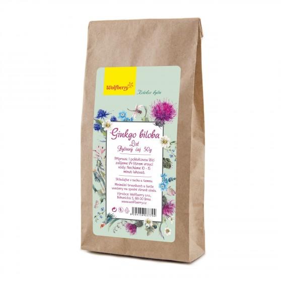 Ginkgo biloba bylinný čaj 50g Wolfberry