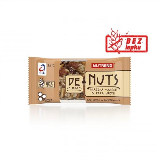 Tyčinka DENUTS pražená mandle + para ořech 35g Nutrend