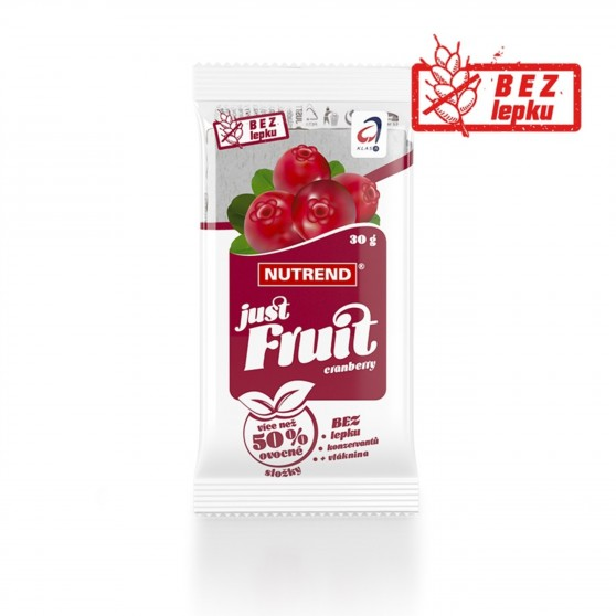 Tyčinka JUST FRUIT brusinka 30g Nutrend