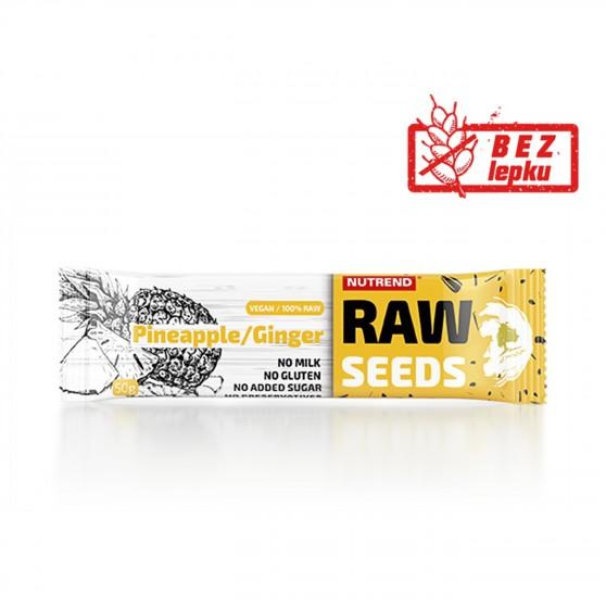 Tyčinka RAW SEEDS Bar ananas + zázvor 50g Nutrend