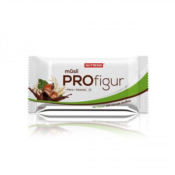 Tyčinka PROFIGUR MÜSLI oříšková s mléčnou čokoládou 33g Nutrend
