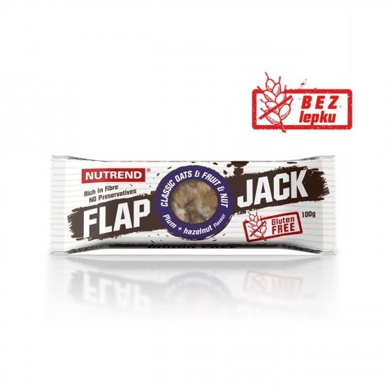 Tyčinka FLAPJACK GLUTEN FREE švestka a lískový ořech 100g Nutrend