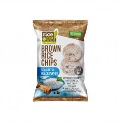 Rýžové chipsy mořská sůl a pepř 60 g Rice Up