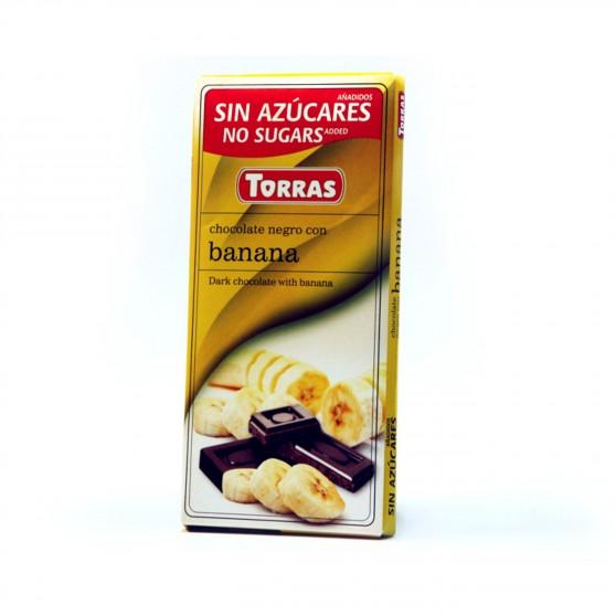 Hořká čokoláda s banánem 75g Torras