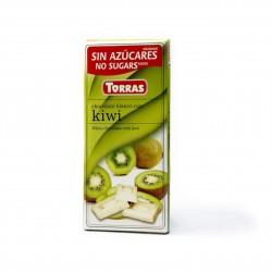 Bílá čokoláda s kiwi 75g Torras