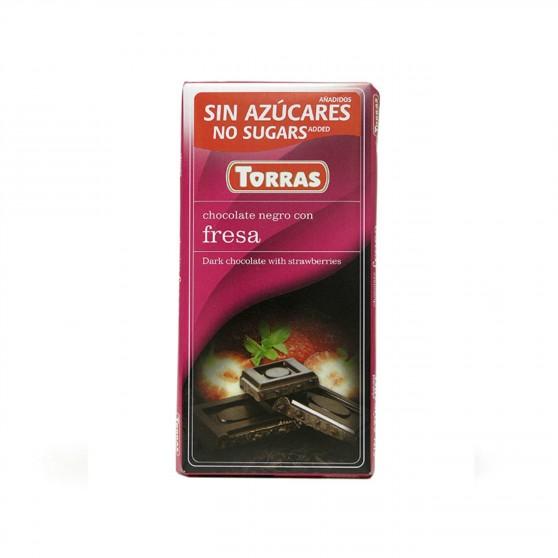 Hořká čokoláda s jahodou 75g Torras