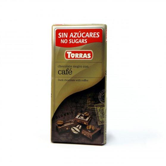 Hořká čokoláda s kávou 75g Torras