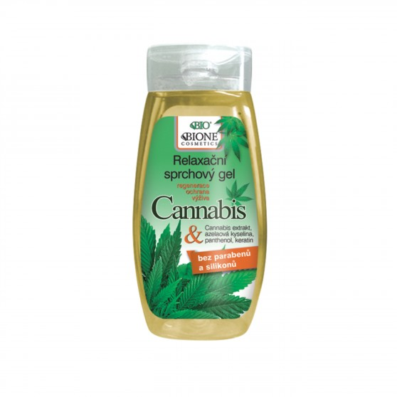 Relaxční sprchový gel Cannabis 250 ml Bione Cosmetics