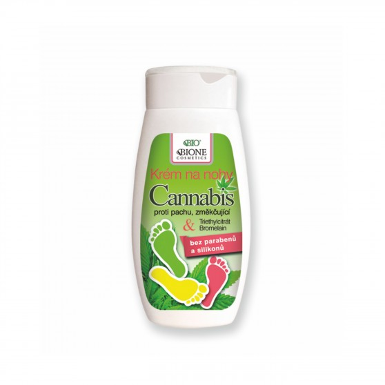 Krém na nohy Cannabis 260ml Bione Cosmetics