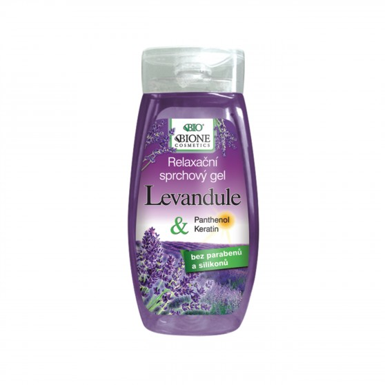 Relaxační sprchový gel Levandule 260 ml Bione Cosmetics