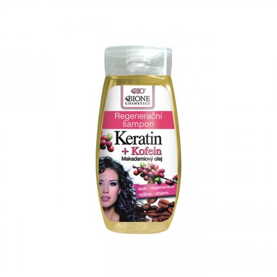 Regenerační šampon Keratin + Kofein 260 ml Bione Cosmetics
