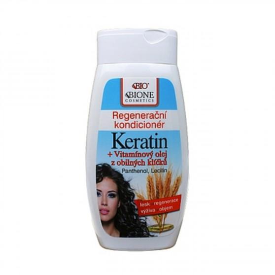 Regenerační kondicioner Keratin z obilných klíčků 260 ml Bione Cosmetics
