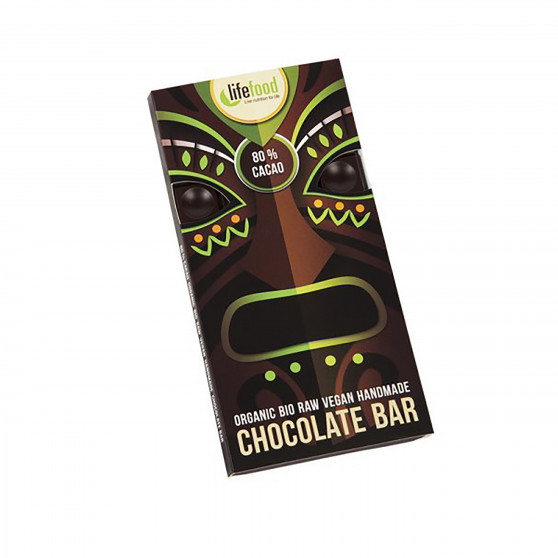Čokoláda 80% kakao RAW BIO 70g Lifefood