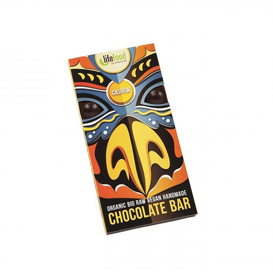 Čokoláda s kešu ořechy RAW BIO 70g Lifefood