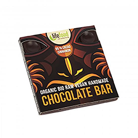 Čokoláda 95% kakao se skořicí RAW BIO 35g Lifefood