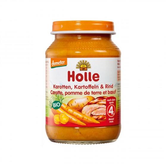 Dětská výživa Mrkev, brambory a hovězí maso BIO 190 g Holle