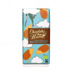 Mléčná čokoláda s karamelizovanými mandlemi a mořskou solí 37% BIO 100 g Green Dream