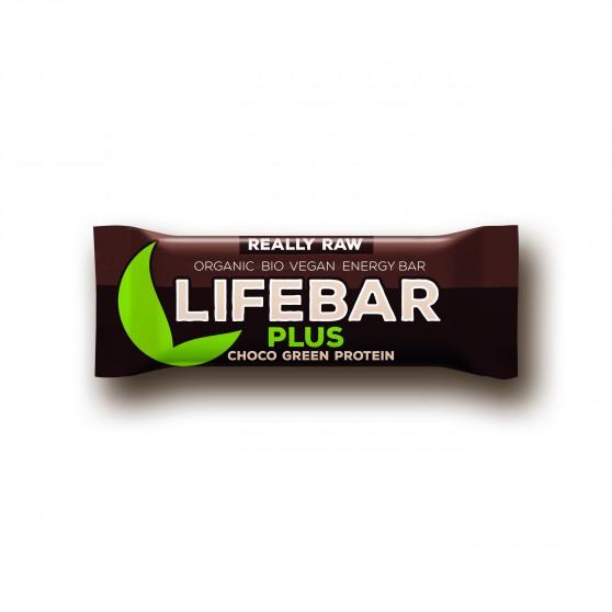 Lifebar plus čokoláda a konopný protein BIO 47g Lifefood