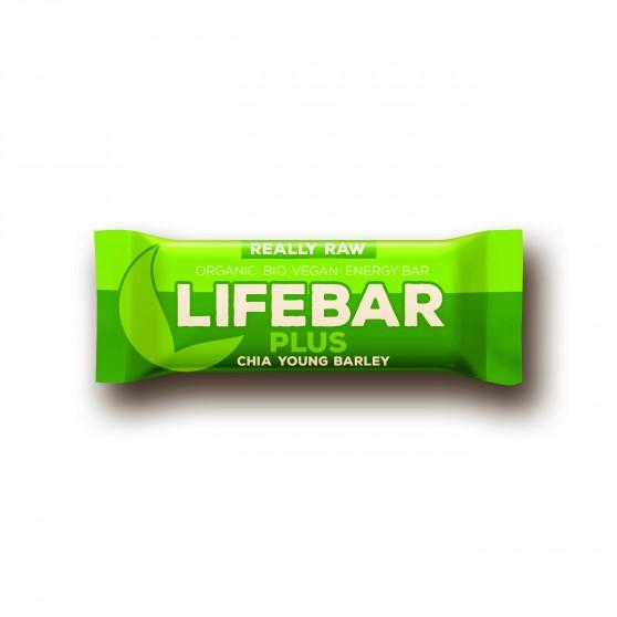 Lifebar plus chia semínka a mladý ječmen BIO 47g Lifefood - doplněk stravy