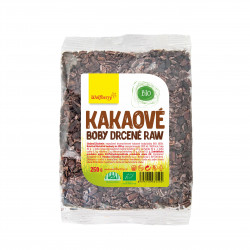 Kakaové boby drcené BIO 250 g Wolfberry