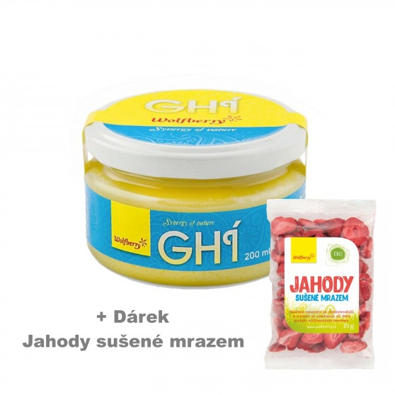 Ghí - přepuštěné máslo 200 ml Wolfberry