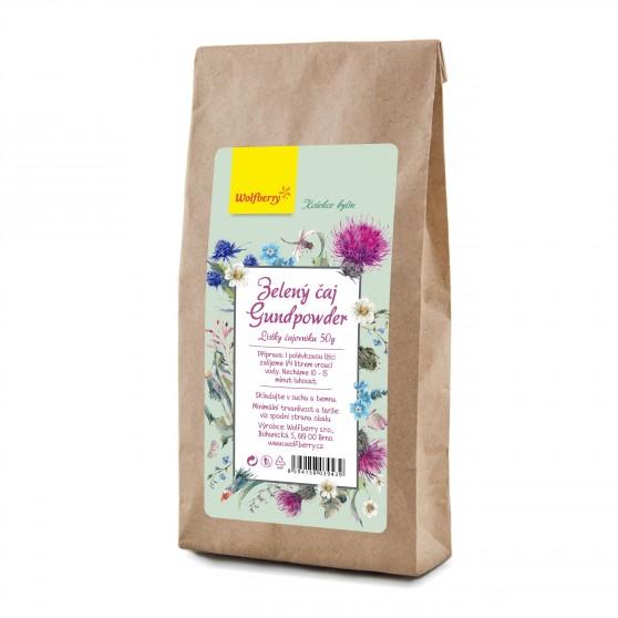 Zelený čaj gunpowder 50 g Wolfberry