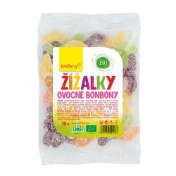 Ovocné bonbóny Žížalky Bio 75 g Wolfberry