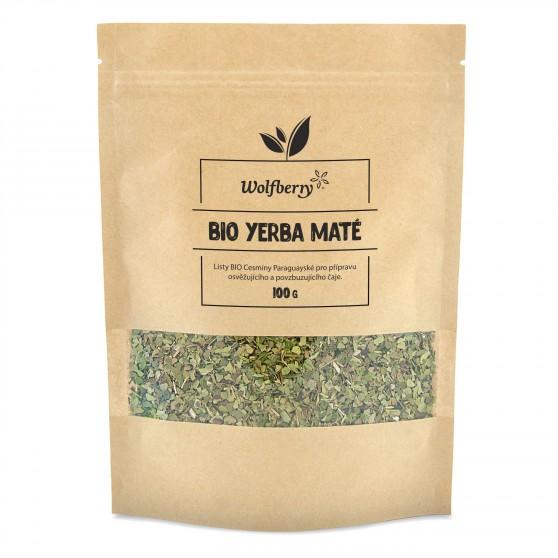 Zelený čaj Yerba maté lístky BIO 100 g Wolfberry