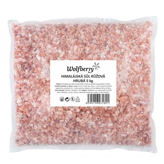 Himalájská sůl růžová hrubá 5 kg Wolfberry