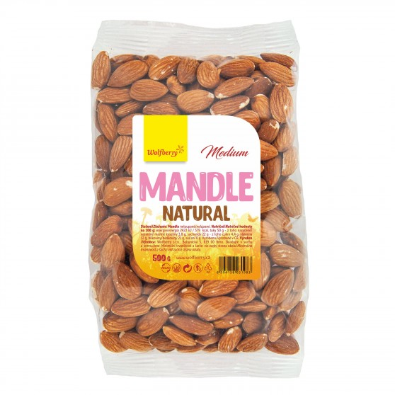 Mandle natural medium 500 g Wolfberry