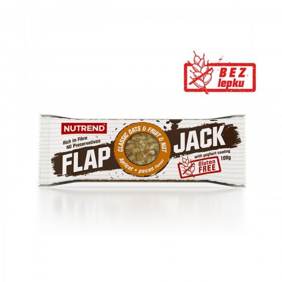 Tyčinka FLAPJACK  GLUTEN FREE meruňka a pekanový ořech s jogurtovou polevou 100 g Nutrend