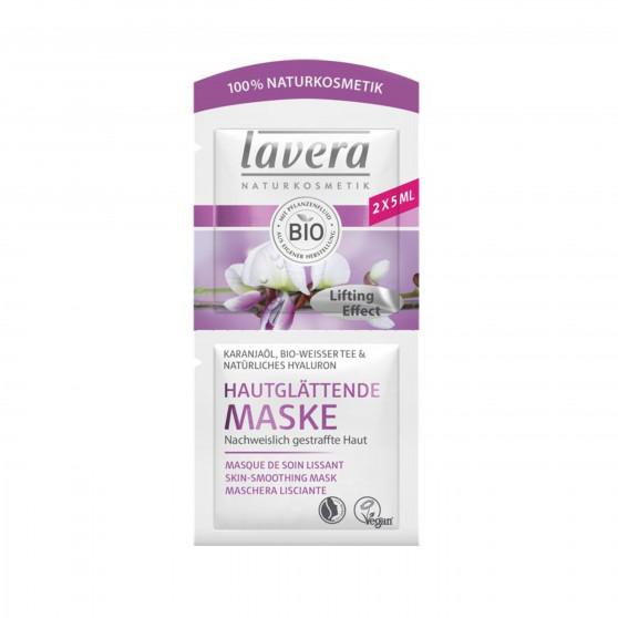 Zpevňující pleťová maska BIO karanja olej, bílý čaj a kyselina hyaluronová 2 x 5 ml Lavera