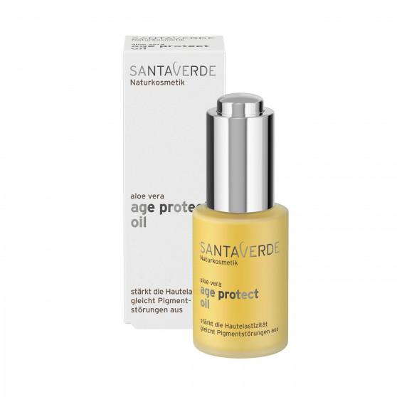 Olej na obličej proti stárnutí pokožky Age protect 30 ml Santaverde