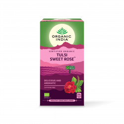 Tulsi sladká růže 25 sáčků Organic India