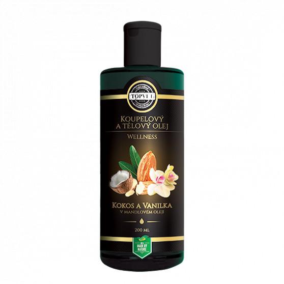 Kokos a vanilka v mandlovém oleji 200ml Topvet
