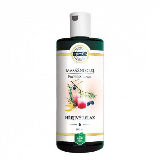 Hřejivý relax - masážní olej 200ml Topvet