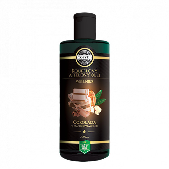 Čokoláda v mandlovém oleji 200ml Topvet
