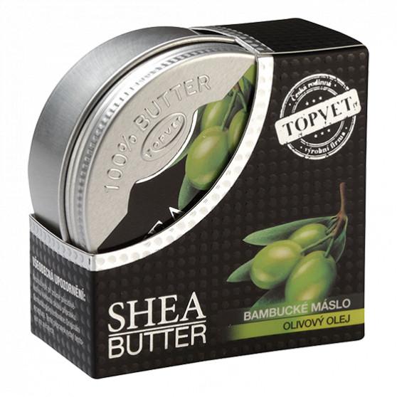 Bambucké máslo (shea butter) s olivovým olejem 100ml Topvet