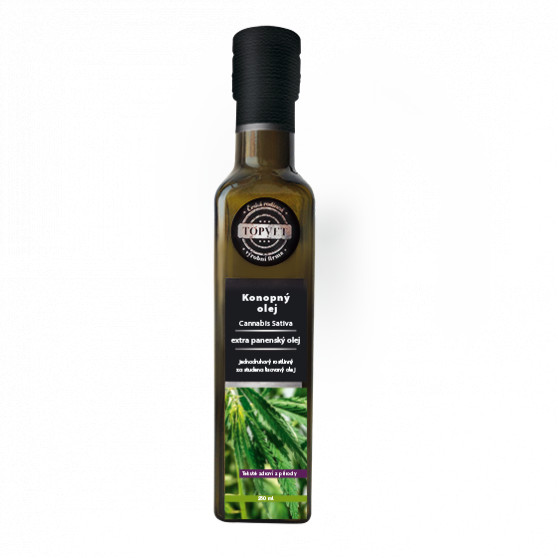 Konopný olej 250ml Topvet