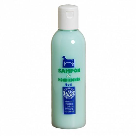 Šampon a kondicioner 2v1 pro psa 200ml Topvet