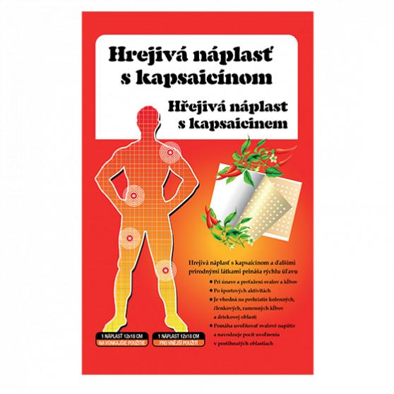 Hřejivá náplast s kapsaicinem 12x18 cm Topvet